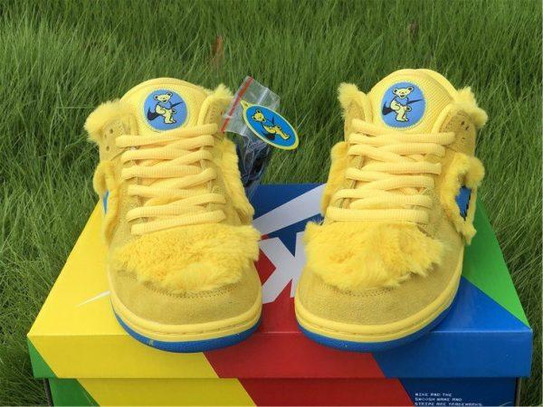 Nike SB Dunk Low Grateful Dead Bears In Yellow CJ5378-700 Front