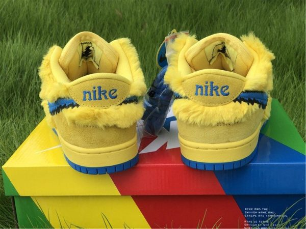 Nike SB Dunk Low Grateful Dead Bears In Yellow CJ5378-700 Heel