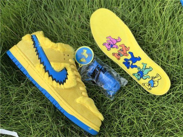 Nike SB Dunk Low Grateful Dead Bears In Yellow CJ5378-700 Insole