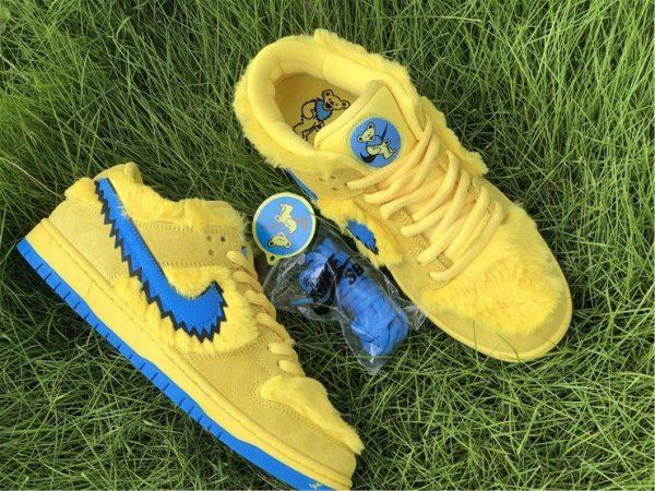 Nike SB Dunk Low Grateful Dead Bears In Yellow CJ5378-700 On Sale