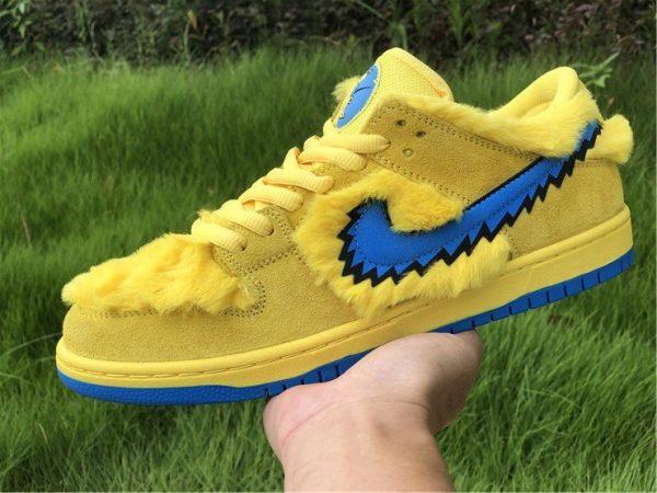 Nike SB Dunk Low Grateful Dead Bears In Yellow CJ5378-700 On-hand