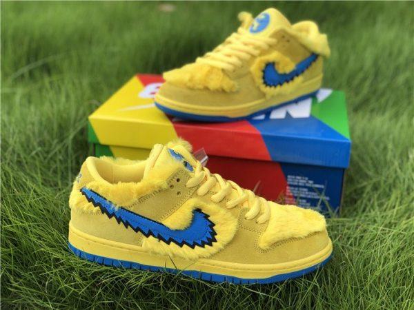 Nike SB Dunk Low Grateful Dead Bears In Yellow CJ5378-700 Outlet