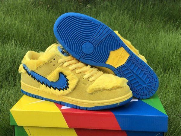 Nike SB Dunk Low Grateful Dead Bears In Yellow CJ5378-700 Sale