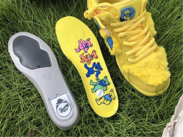 Nike SB Dunk Low Grateful Dead Bears Opti Yellow Insole