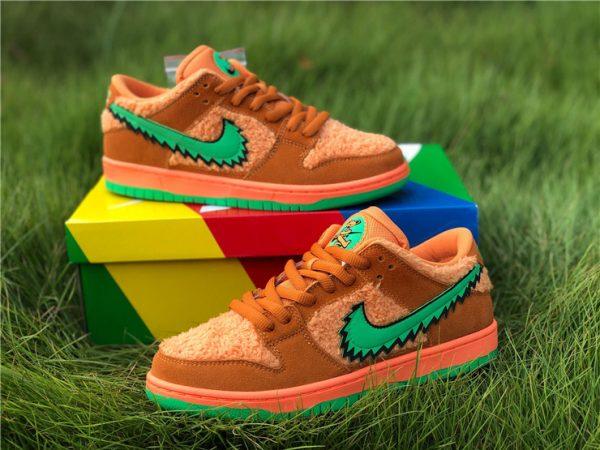 Orange Bear Grateful Dead Dunks sneaker