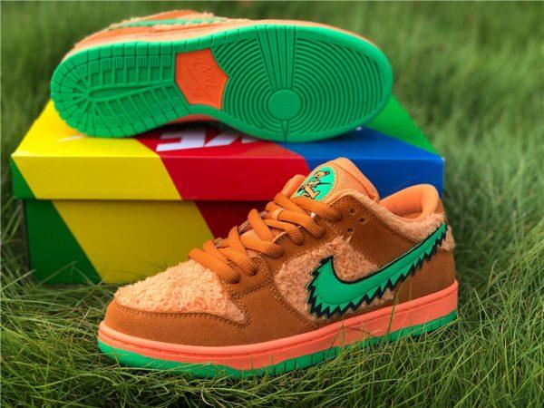 Orange Bear Grateful Dead Dunks sole