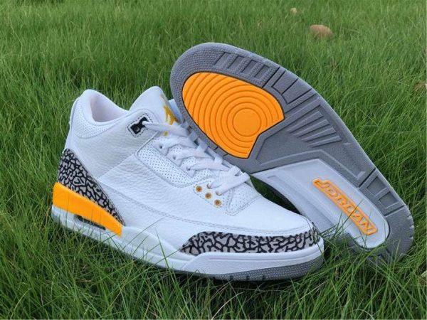 laser Orange Air Jordan 3 sole