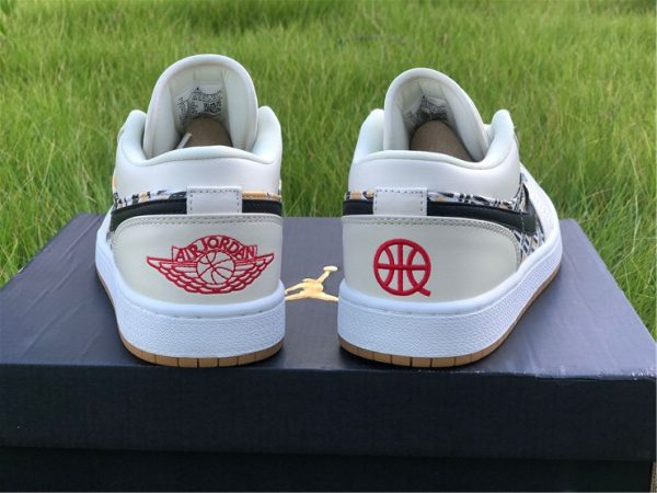 Air Jordan 1 Low Quai 54 heel
