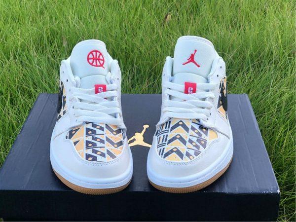 Air Jordan 1 Low Quai 54 logo on tongue