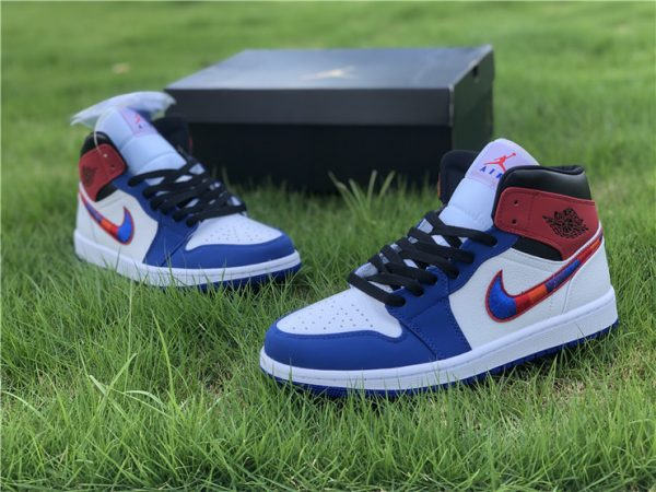 Air Jordan 1 Mid Embroidered Swooshes for sale