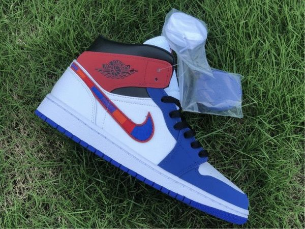 Air Jordan 1 Mid Embroidered Swooshes lateral