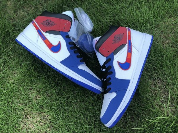 Air Jordan 1 Mid Embroidered Swooshes panel