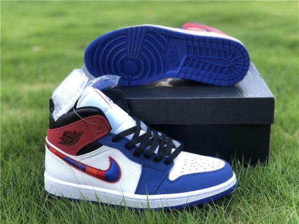 Air Jordan 1 Mid Embroidered Swooshes sneaker