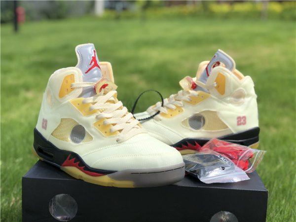 Air Jordan 5 Off-White Sail sneaker