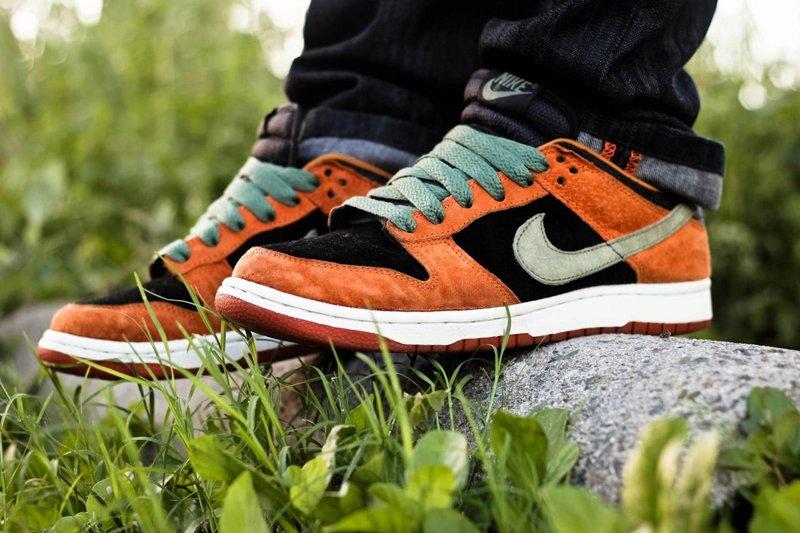 Nike Dunk Low Ceramic Orange On Feet