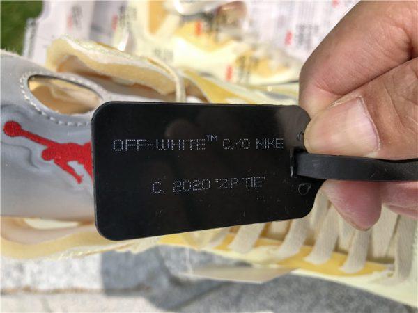 Off-White x Air Jordan 5 Sail tag