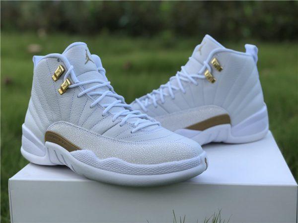 Air Jordan 12 Retro OVO White Gold Sneaker