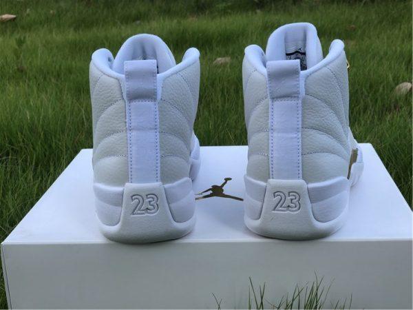Air Jordan 12 Retro OVO White heel