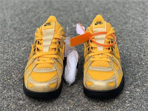 Off-White Nike Air Rubber Dunk University Gold front