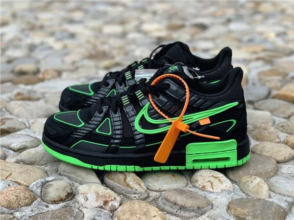 Off-White x Air Rubber Dunk Green Strike for sale