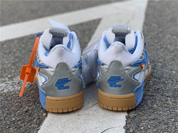 Off-White x Air Rubber Dunk University Blue heel