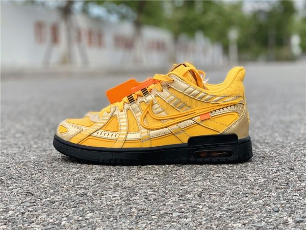 Off-White x Nike Air Rubber Dunk University Gold