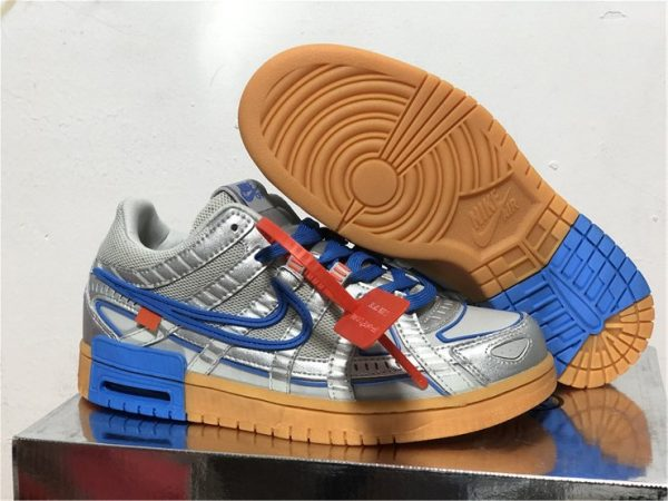 Off White x Nike Air Rubber Dunks University Blue