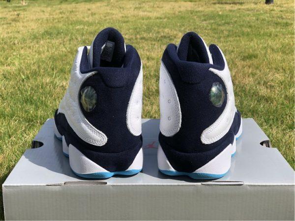 Air Jordan 13 Dark Powder Blue heel