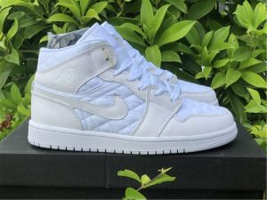 Air Jordan 1 Mid Quilted White