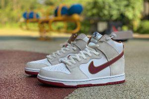 Nike SB Dunk High Sail Team Crimson shoes
