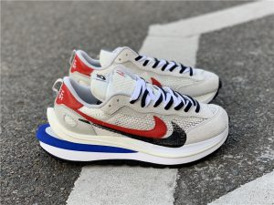 Sacai x Nike VaporWaffle Sail Royal Fuchsia