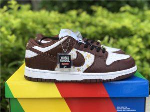 Supreme x Nike SB Dunk Low Brown Stars