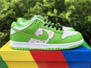 Supreme x Nike SB Dunk Low Mean Green Stars