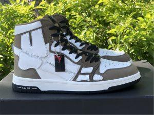 Amiri Skel High-Top Sneakers Khaki