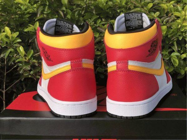 Air Jordan 1 High OG Light Fusion Red heel