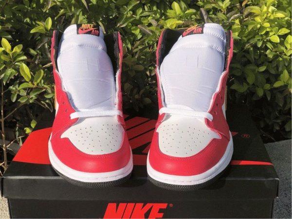 Air Jordan 1 High OG Light Fusion Red white front