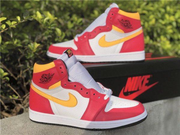 Air Jordan 1 High OG Light Fusion Red yellow