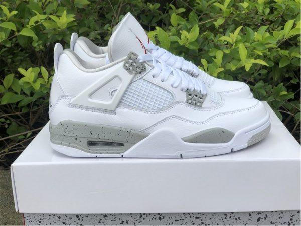 2021 Air Jordan 4 White Oreo Tech Grey
