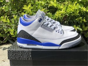 2021 Air Jordans 3 Racer Blue