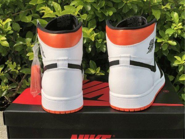 Air Jordan 1 High OG GS Electro Orange Heel