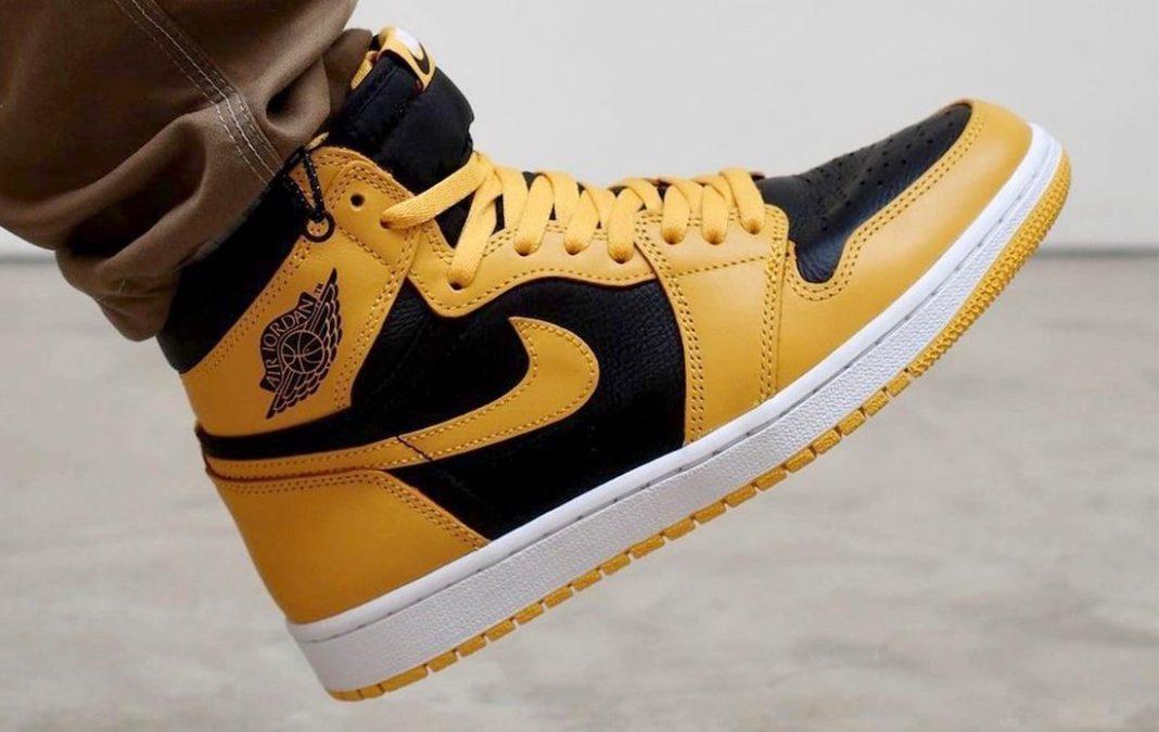 Air Jordan 1 High OG Pollen on feet look