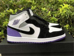 Air Jordan 1 Mid SE Court Purple Suede