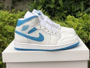 Air Jordan 1 Mid UNC White Blue