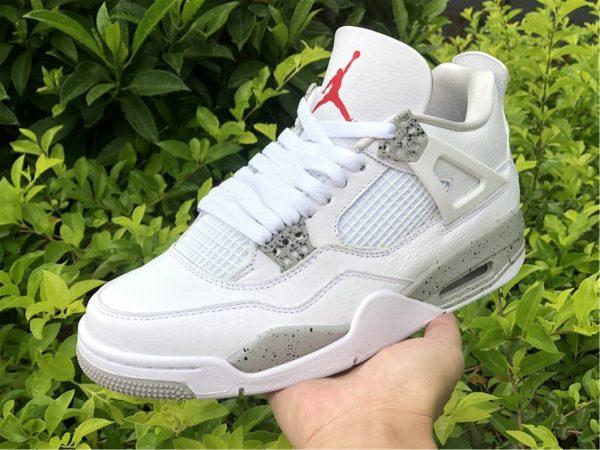 on hand look at 2021 Air Jordan 4 White Oreo Tech Grey