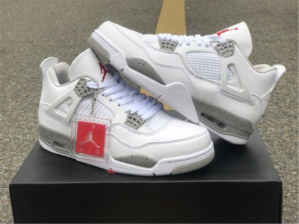 shop Air Jordan 4 White Oreo Tech Grey