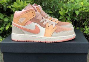 Air Jordan 1 Mid Apricot Orange