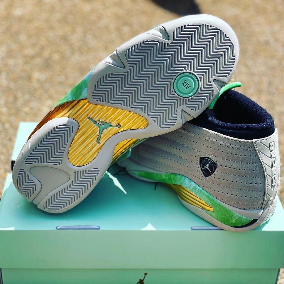 Aleali May Air Jordan 14 Low sole look