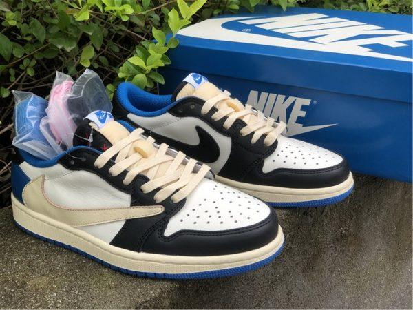 Travis Scott Fragment Air Jordan 1 Low shoes sale