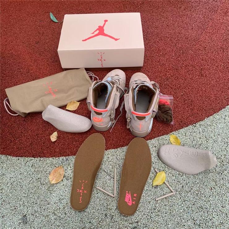 Travis Scott x Air Jordan 6 British Khaki detail