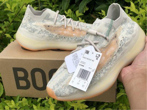adidas Yeezy Boost 380 Yecoraite Reflective on hand